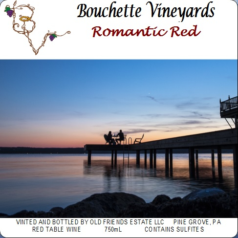 Bouchette Vineyards Romantic Red table wine