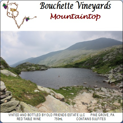 Bouchette Vineyards Mountaintop red table wine