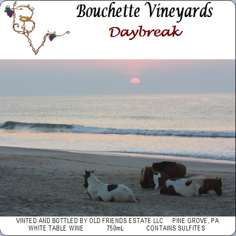 Bouchette Vineyards Daybreak white table wine