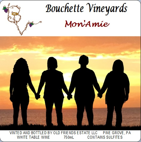 Bouchette Vineyards Mon'Aime white table wine
