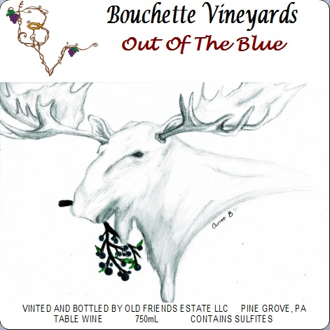 Bouchette Vineyards Out Of The Blue table wine