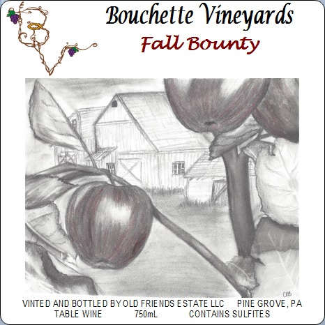 Bouchette Vineyards Fall Bounty table win