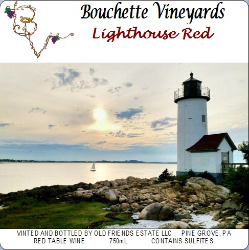 Bouchette Vineyards Lighthouse Red table wine
