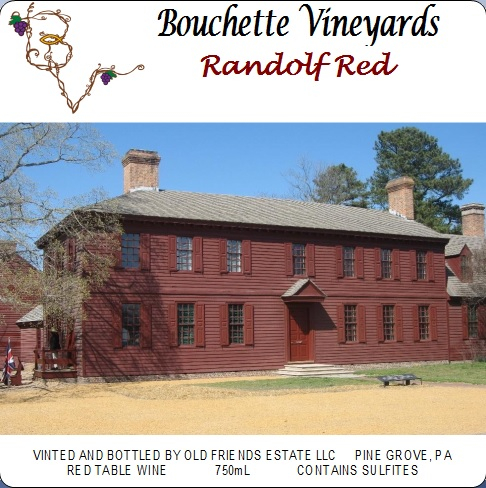 Bouchette Vineyards Randolph Red table wine