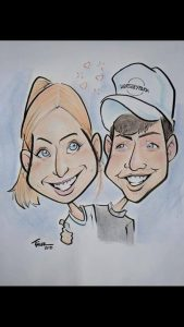 Sweetheart caricature sketch @ Bouchette Vineyards | Bethel | PA | United States